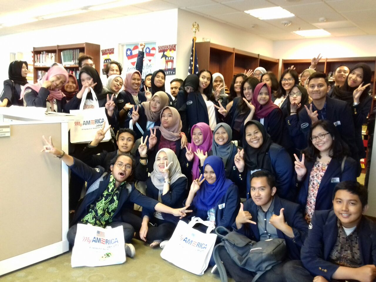 International Relation Major Of UAI Visits The US Embassy With Critical Views