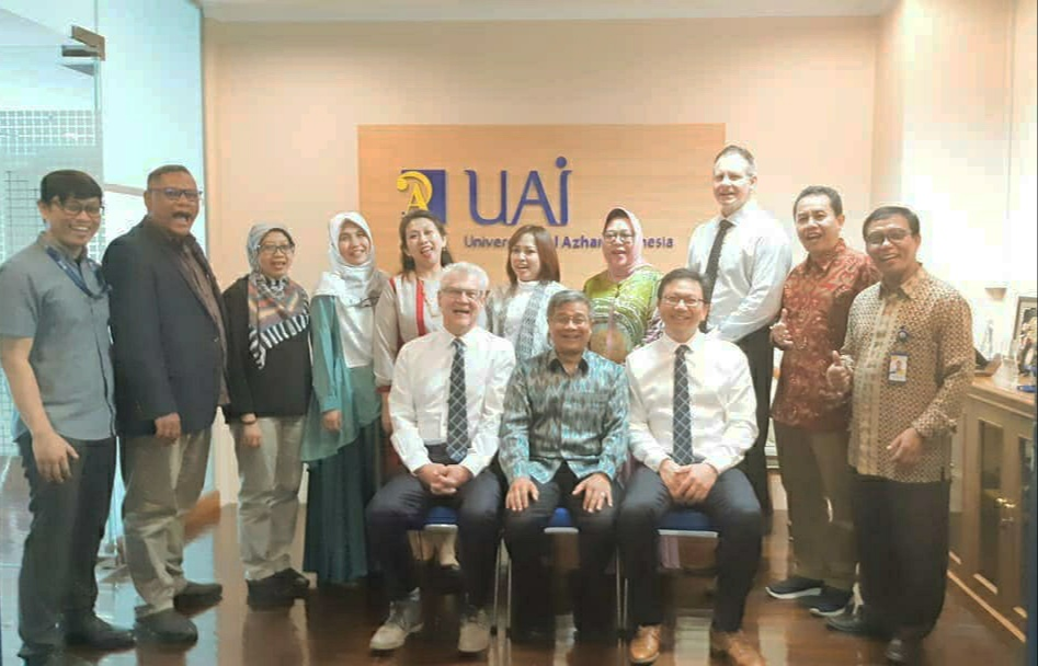 Sharing Session And Signing MoU Between Al Azhar Indonesia University (UAI) And Adelaide Institute Of Business And Technology (AIBT)