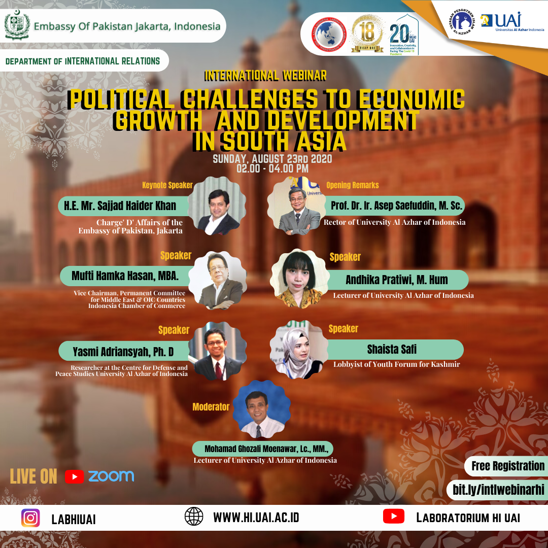 University Al Azhar Of Indonesia Conducted International Webinar And Call For Essay On Grave Issues In South Asia Region