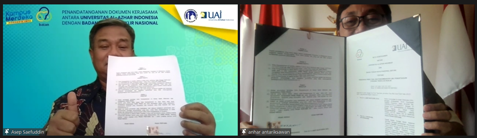University Al-Azhar Of Indonesia And National Nuclear Energy Agency Of Indonesia Solidified Partnership Via MoU And Cooperation Agreement